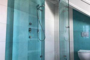 Interieur glas voor de badkamer